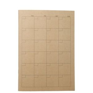 Muji self filled up calendar brand new 32pages